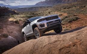 Картинка дизайн, мощь, склон, экстерьер, Jeep Grand Cherokee Trailhawk, 2022, 4xe