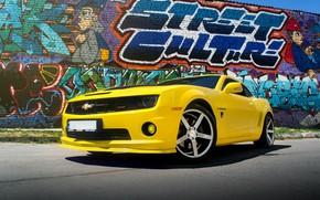 Картинка Chevrolet, Muscle, Camaro, Car, Yellow