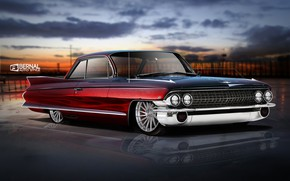 Картинка Cadillac, Авто, Ретро, Машина, Art, Рендеринг, Fleetwood, Transport & Vehicles, Matt Bernal, by Matt Bernal, …