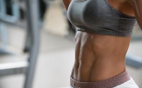 Картинка female, fitness, abs