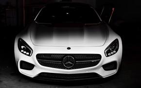 Картинка Mercedes, AMG, Shadow, Black/White