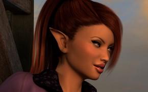 Картинка девушка, макияж, эльфийка