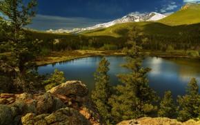 Картинка пейзаж, природа, озеро, красота