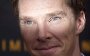 Картинка глаза, взгляд, лицо, улыбка, актёр, Бенедикт Камбербэтч, Benedict Cumberbatch, британский актер