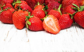 Картинка ягоды, стол, клубника, спелая, Olena Rudo