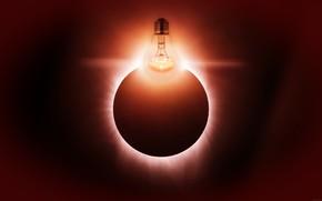 Картинка лампочка, свет, взрыв, планета