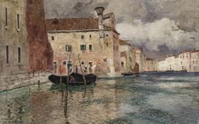 Картинка Венеция, Venice, 1899, норвежский живописец, Фриц Таулов, Frits Thaulow, Norwegian impressionist painter