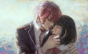 Картинка девушка, парень, Diabolik Lovers, Sakamaki Ayato