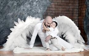 Картинка ангел, отец, сын, .мальчик