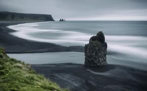Картинка South Iceland, Dyrhólaey, Arnardrangur Reynisfjara Beach