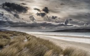 Картинка море, пляж, берег, Scotland, Luckentyre Beach