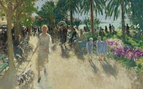 Картинка картина, городской пейзаж, Пьер Эжен Монтезин, Pierre-Eugene Montezin, Круазет. Канны