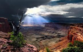 Картинка облака, Юта, USA, США, солнечный свет, Utah, Canyonlands National Park