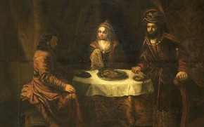 Картинка масло, картина, холст, Гербранд ван ден Экхоут, 1724, Gerbrand van den Eeckhout, Гнев Ахашвероша