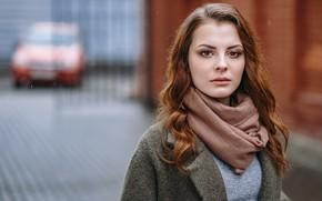 Картинка взгляд, лицо, портрет, шатенка, боке, Alena, Kirill Sokolov