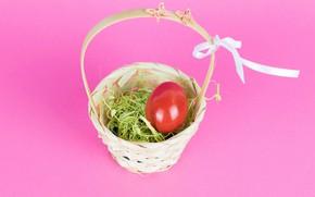 Картинка праздник, корзина, яйцо, Пасха, Easter
