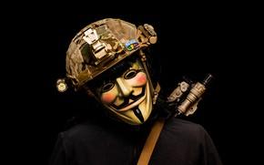 Картинка маска, шлем, мужчина, Vendetta