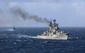 Картинка учения, эсминец, адмирал ушаков