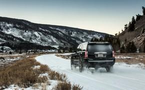 Картинка 2018, GMC, SUV, Denali, на дороге, Yukon