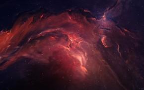 Картинка Звезды, Космос, Туманность, Fantasy, Арт, Stars, Space, Art, Фантастика, Nebula, StarkitecktDesigns, by StarkitecktDesigns, Eden Nebula …