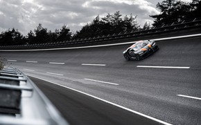 Картинка асфальт, деревья, поворот, Bugatti, гиперкар, Chiron, Super Sport 300+
