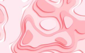 Картинка белый, абстракция, розовый, геометрия, texture, pink, Wallpaper, paper, geometric