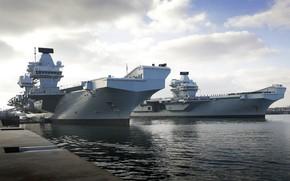 Картинка авианосцы, Queen Elizabeth, Королевский Флот, Prins of Wales
