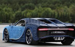 Картинка машина, Bugatti, Лего, суперкар, supercar, Lego, синяя машина, Chiron, Bugatti Chiron, машина из лего, lego …