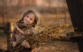 Картинка весна, девочка, ива