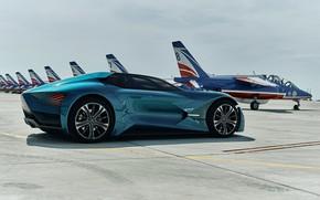 Картинка Concept, вид сбоку, 2018, электромобиль, E-Tense, DS X, DS Automobiles