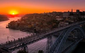 Обои город, Sunset, Porto