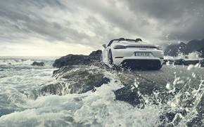 Картинка машина, вода, Porsche, Cayman, Spyder, 718