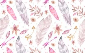 Картинка фон, текстура, перья, листики