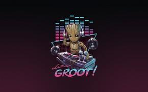 Картинка Минимализм, Музыка, Арт, Neon, Groot, 80's, Synth, Retrowave, Synthwave, New Retro Wave, Futuresynth, Синтвейв, Ретровейв, …