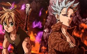 Картинка аниме, арт, парни, Nanatsu no Taizai, Семь смертных грехов