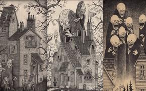 Картинка horror, art, creepy, johnkenn