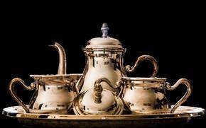Картинка фон, посуда, чайный набор