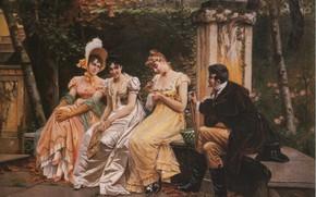 Картинка парень и три дамы, BGiuliano, The Suitor