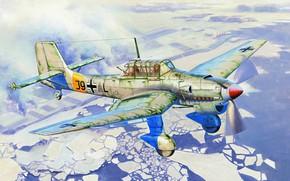 Картинка Германия, пикирующий бомбардировщик, Junkers, вермахт, люфтваффе, Штурмовик, Ju 87B-2, Junkers Ju 87, Birdy Chang
