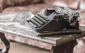 Картинка стол, фон, пишущая машинка