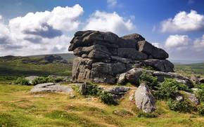 Картинка камни, Англия, Dartmoor
