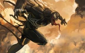 Картинка Язык, Зубы, Marvel, Веном, Venom, Симбиот, Creatures, Venom Fanart, by AXL KONG, AXL KONG