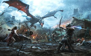Картинка Skyrim, Bethesda Softworks, The Elder Scrolls, Jose Daniel Cabrera Peña, мультиплатформенная компьютерная ролевая игра