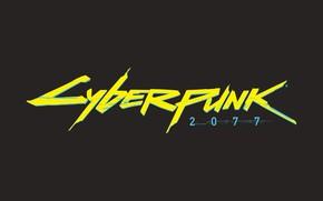 Картинка Игра, Лого, Logo, CD Projekt RED, Cyberpunk 2077, Киберпанк, Cyberpunk, Киберпанк 2077, 2077, Видеоигра