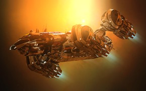 Картинка Космос, Корабль, Арт, Space, Art, Космический Корабль, Фантастика, Aliens, Prometheus, GrahamTG, Spaceship, Sci-Fi, Science Fiction, …