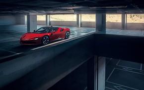 Картинка Ferrari, спорткар, паркинг, Stradale, SF90