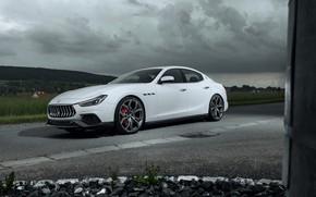 Картинка пасмурно, Maserati, 2018, Ghibli, Novitec, GranSport