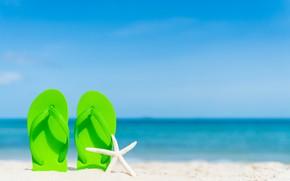 Картинка песок, море, волны, пляж, лето, берег, звезда, summer, beach, sea, sand, marine, сланцы, starfish