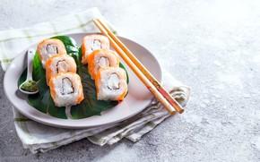 Картинка рыба, рис, роллы, японская кухня