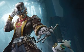 Картинка робот, шляпа, PlayerUnknown's Battlegrounds